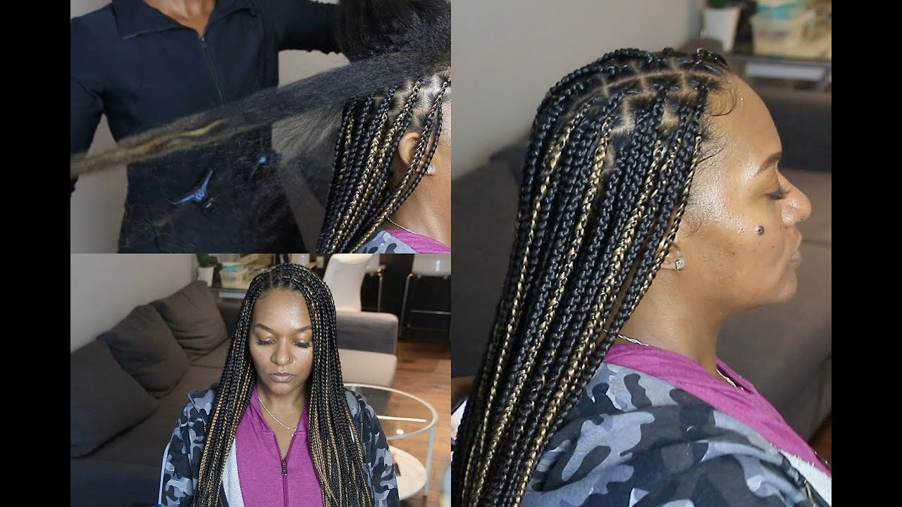 Knotless Box Braids On Extremely Long Hair Regular
