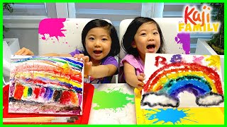 Easy Salt Painting Kids Activities with Emma and Kate!!