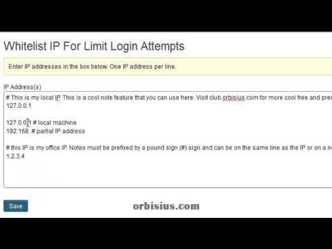 Whitelist IP For Limit Login Attempts - Orbisius