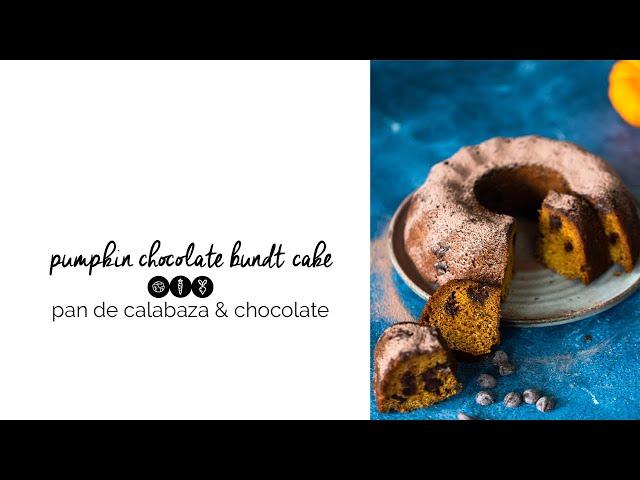 Pan de calabaza y chocolate , delicioso y 100% vegano