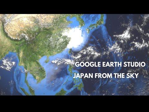 Japan from the Sky (Google Earth Studio)