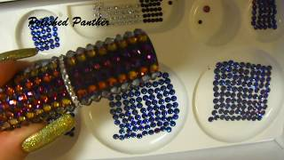 ENCRUSTING  SWAROVSKI CRYSTALS nail art stamper holder shot glass