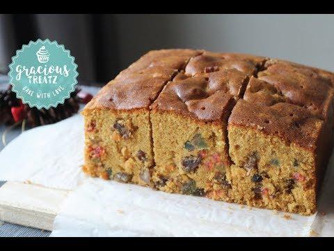 Soft Moist Brandied Fruit Cake | Christmas Cake
