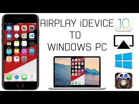How to Airplay Your iOS 10 Device to ANY Windows 10 PC for FREE! NO JAILBREAK