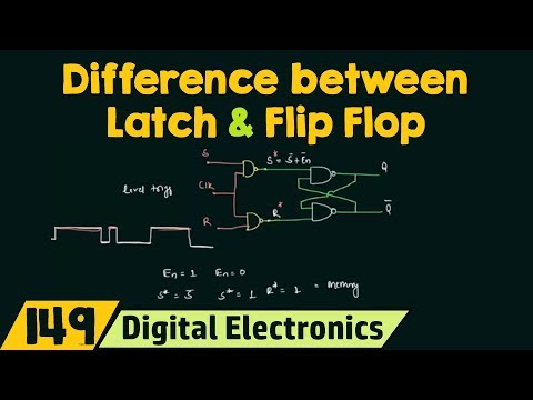 Difference between Latch and Flip Flop