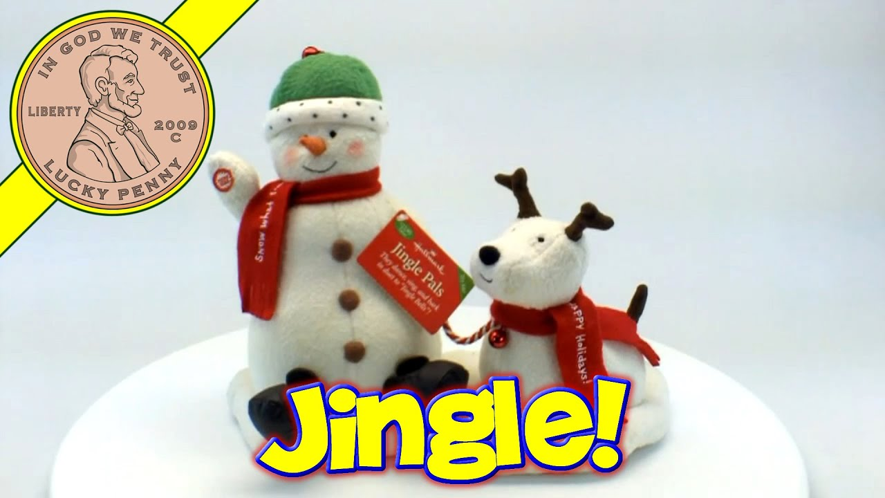 hallmark cards snowman dog pals christmas musical jingle bells decoration kids toy reviews youtube