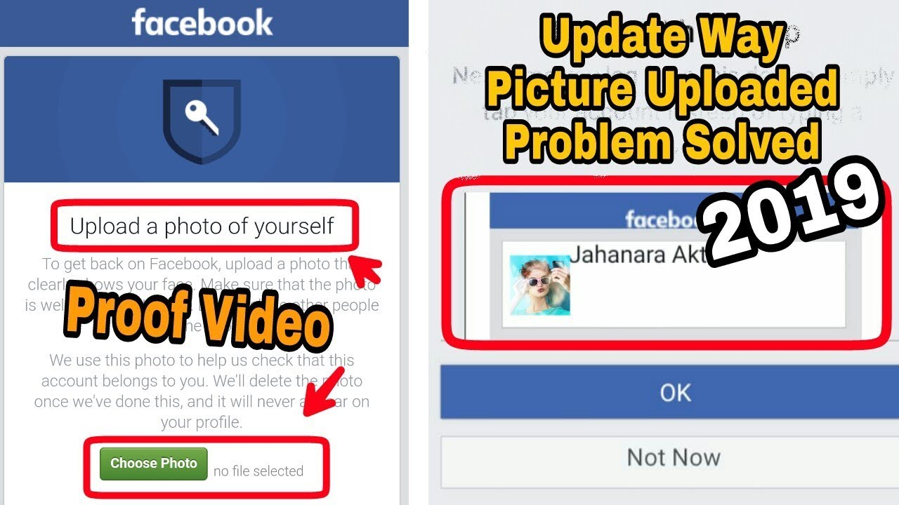 Solved Facebook Upload a photo of yourself Picture Upload Problem