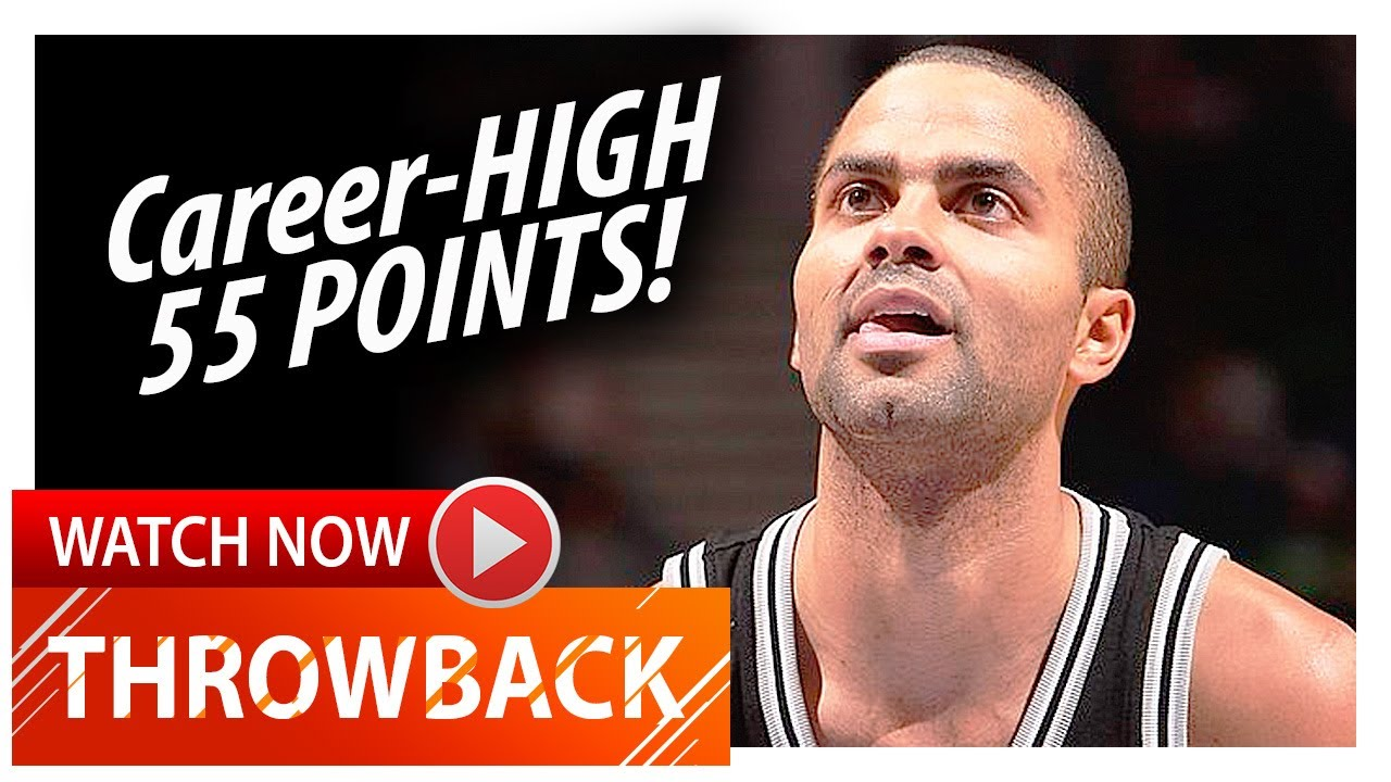 sneakers for cheap b215c 7db12 Throwback: Tony Parker Career-HIGH Highlights vs Timberwolves (2008.11.05)  - 55 Pts, UNSTOPPABLE!