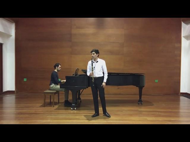Premio de interpretación para jóvenes solistas de Bogotá, fragmentos Carl Nielsen Clarinet Concert