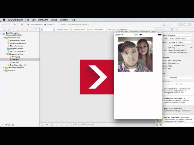 iOS Development with Swift Tutorial - 26 - Drawing Images and Photos