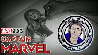 Drawing Captain Marvel - How To Draw ( Speed Drawing )