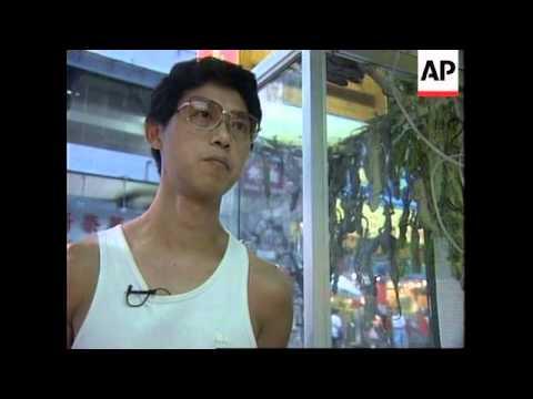 HONG KONG: LIZARD SOUP SOLD AS RELIEF FOR STRESS