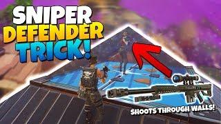SNIPER DEFENDER TRICK! SHOOTING THROUGH PYRAMIDS!| Fortnite STW