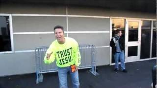 Crazy Jesus Freak Outside the Rammstein show in Oakland May 18, 2011 Thumbnail