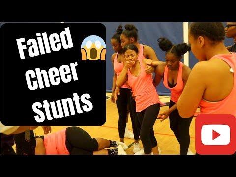 Basic Cheerleading Stunts Going Wrong! #EpicFail