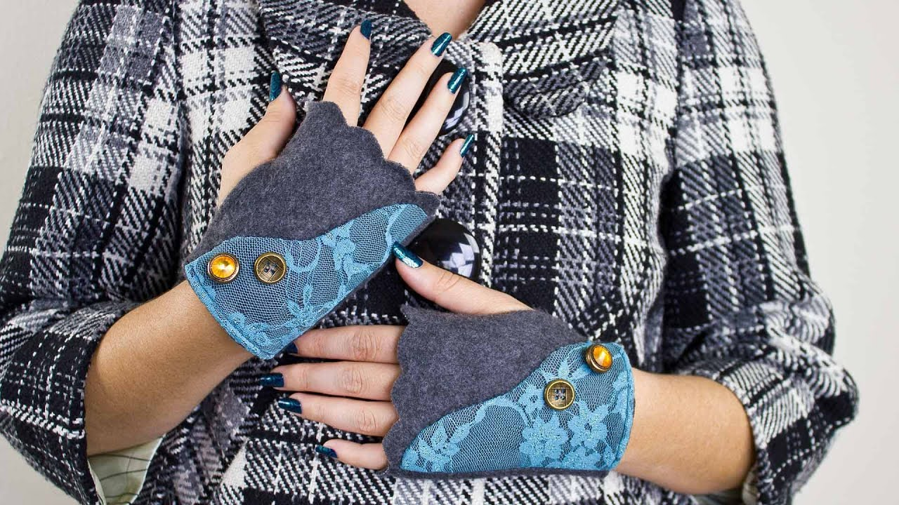 How to sew fingerless gloves youtube how to sew fingerless gloves jeuxipadfo Choice Image