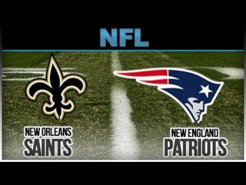 Patriots vs Saints Game Halftime!