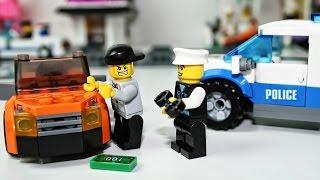 Мультики про МАШИНКИ Лего Полиция - LEGO Police. Police Car. Cartoon about LEGO