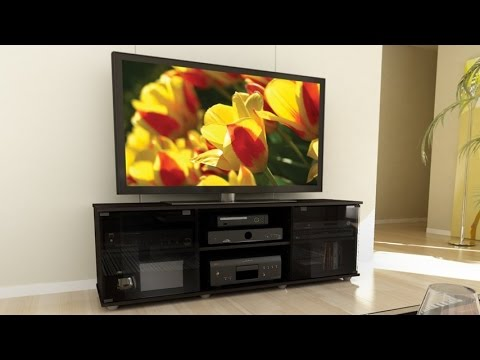 Sonax FB 2600 Fiji 60 Inch TV Component Bench With Ample Storage For Audio  Video Components