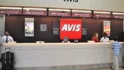 John Wayne Airport (SNA) - Finding Your Way to the Avis Car Rental Counter