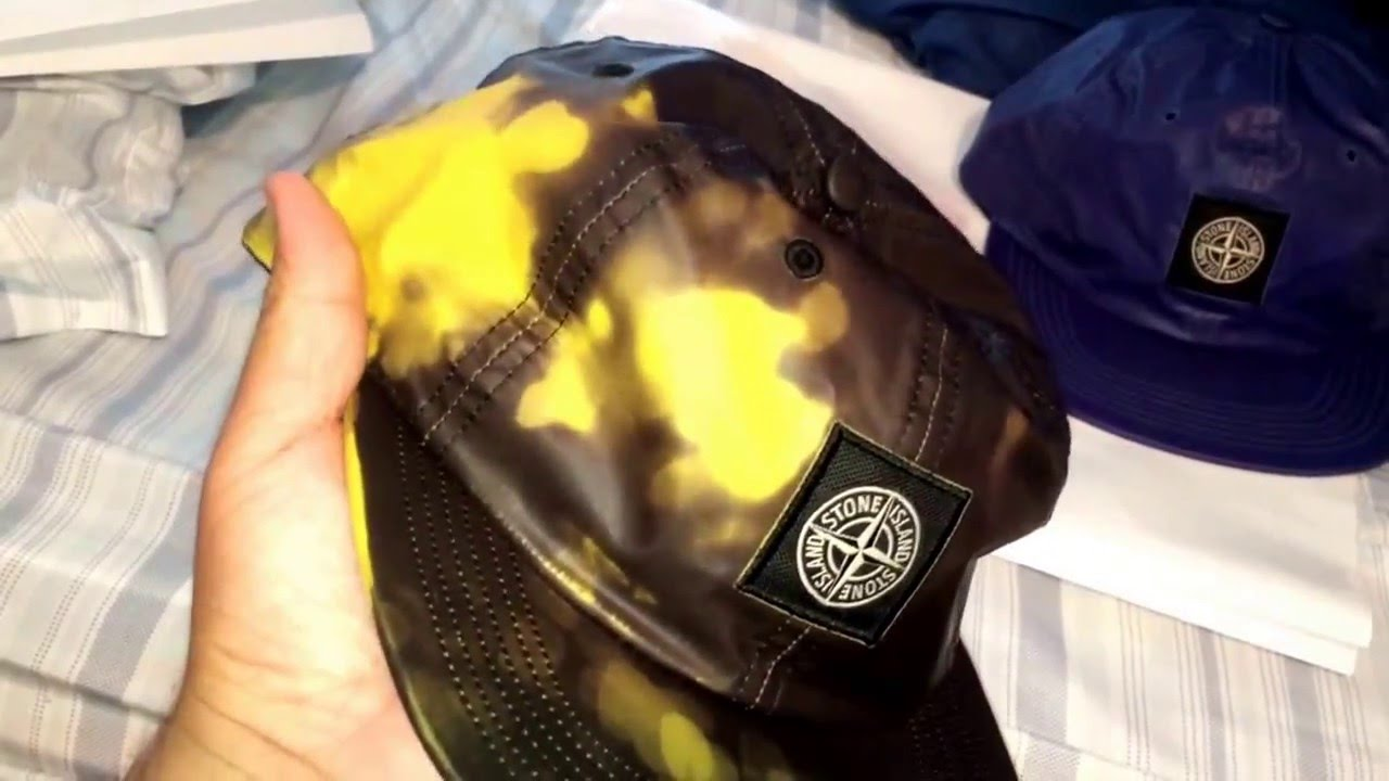 Supreme x Stone Island yellow 6-panel hat (yellow black) Changes colors  0  - YouTube 2e804861e2c8