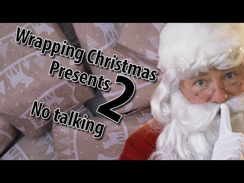 Wrapping Christmas presents No. 2, ASMR, no talking.