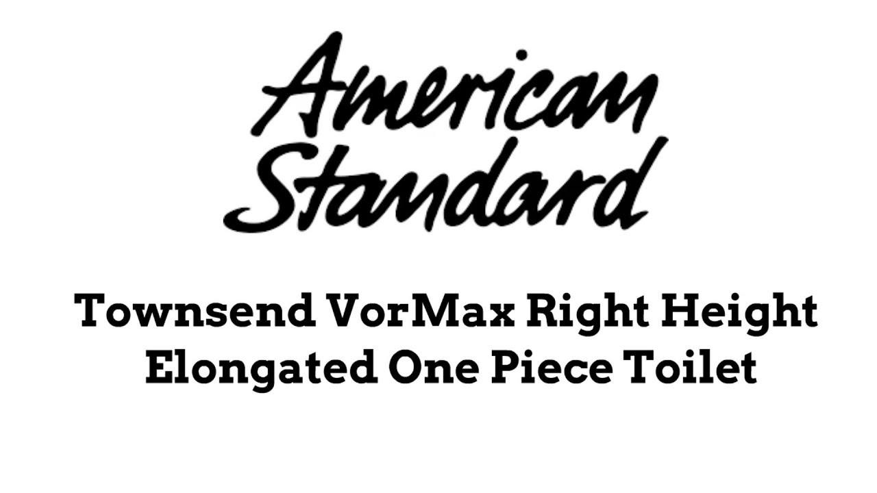 American Standard Townsend VorMax Right Height 1 Piece Toilet sales ...