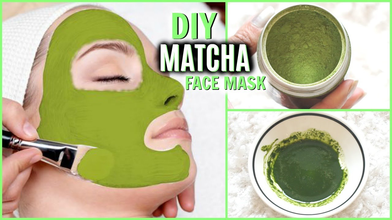 Diy Matcha Green Tea Face Mask For Healthy Skin Erase Wrinkles Tighten Pores Bright Glowing Skin