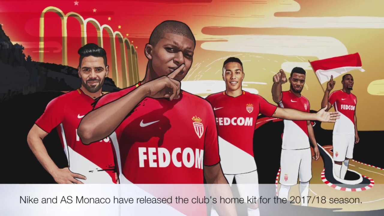 Nike AS Monaco 2017 2018 Home Jersey. World Soccer Shop 313223c2bae