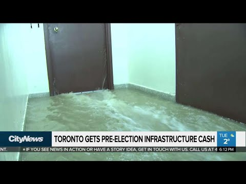 Toronto gets pre-election infrastructure cash