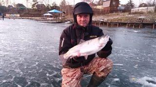 Ловля ФОРЕЛИ на платнике ЗИМОЙ Савельев 2 Зимняя рыбалка