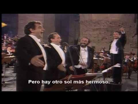 Los tres tenores, O´sole mio y Nessun dorma Subtitulado al español