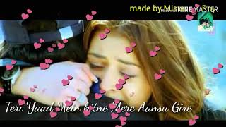 Teri Yaad Mein Kitne Mere Aansu Gire Tere Bina Tere Bina WhatsApp status video