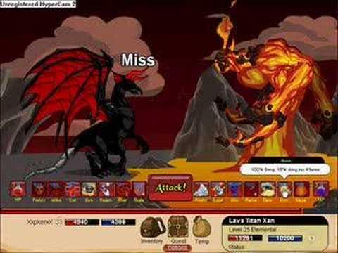 Dragonfable-Titan Xan battle