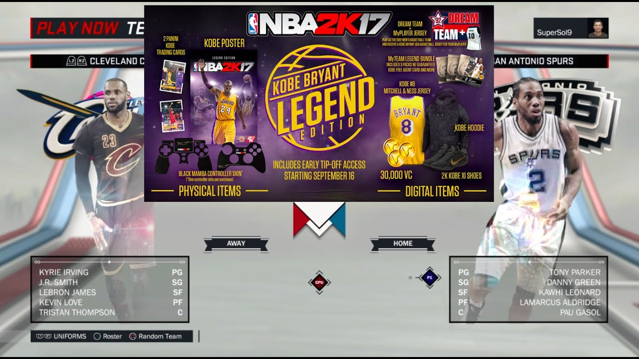 917815cc65 NBA 2K17 Legend Edition Unboxing Contents