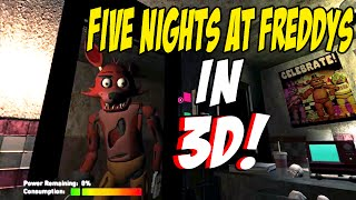 FOXY JUMPSCARE IN 3D One Night At Freddys 3D Night 1 Complete