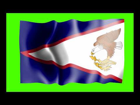 American Samoa Flag Green Screen - Free Royalty Footage