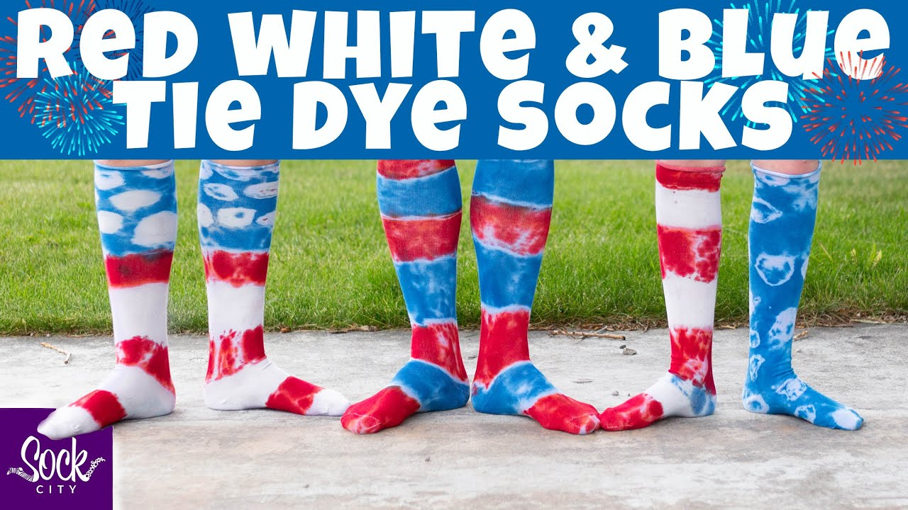 Red, White & Blue Tie Dye Socks | DIY Tutorial | 4th of July | Fun Sock Creations