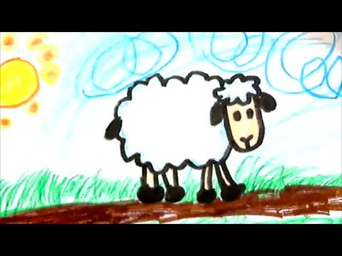 How To Draw A Cartoon Sheep For Kids Youtube