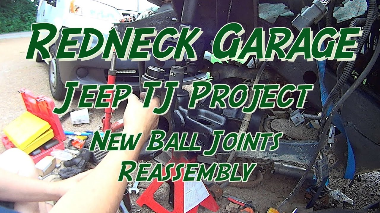 Jeep Wrangler Tj Front End Reassembly Ball Joints Neighbor Diagram Of The Steering And Suspension Components