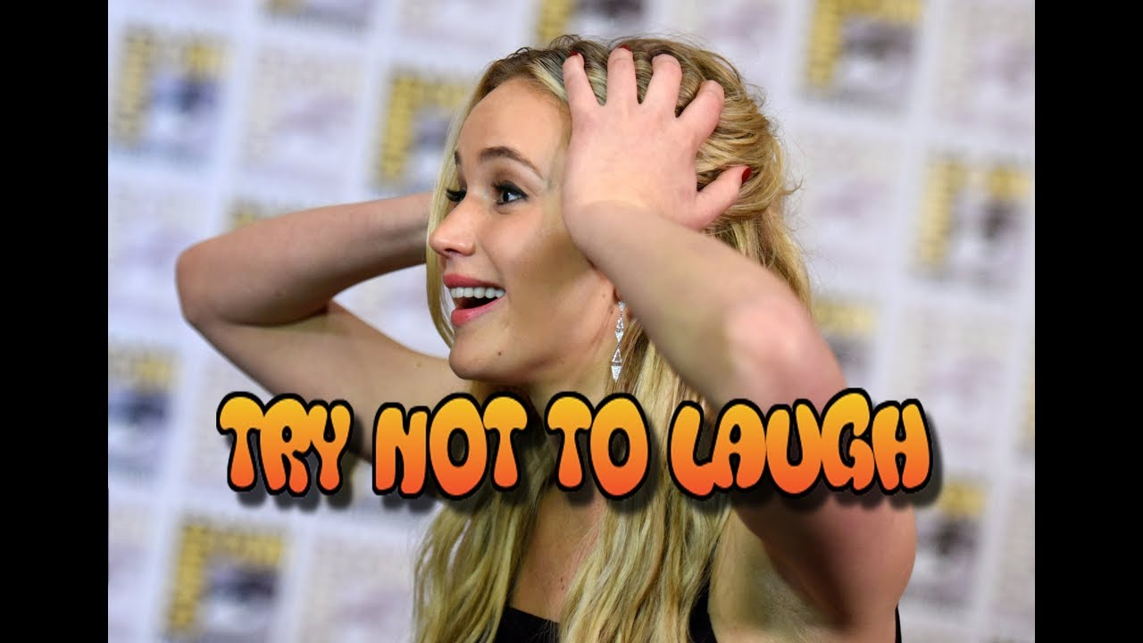 Jennifer Lawrence - Try not to laugh or smile challenge