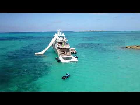 Yacht Slide rental   FunAir superyacht fun from above