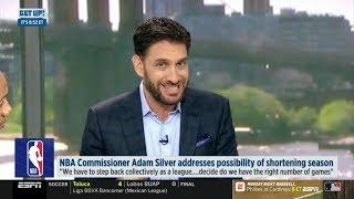 ESPN GET UP | NBA Commissioner Adam Silver addresses possibility of shortening season