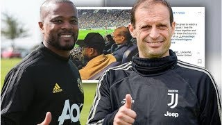 Man Utd fans say the same thing as Patrice Evra posts picture with Massimiliano Allegri- transfer...