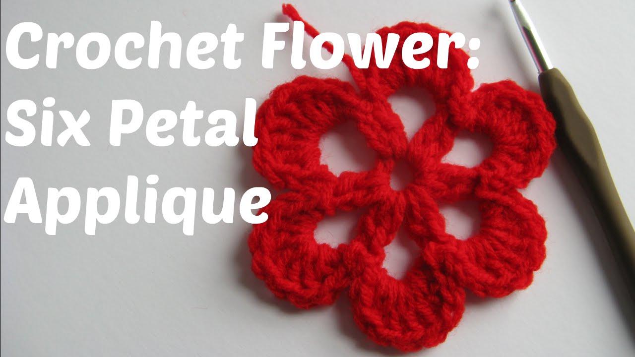 Crochet flower tutorial six petal applique beginner series crochet flower tutorial six petal applique beginner series youtube bankloansurffo Gallery
