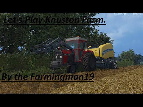 Farming Simulator 15 - Part 2 - Baling with  Courseplay