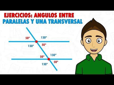 ANGULOS ENTRE PARALELAS Y UNA TRANSVERSAL (EJERCICIOS) Super facil - Para principiantes from YouTube · Duration:  5 minutes
