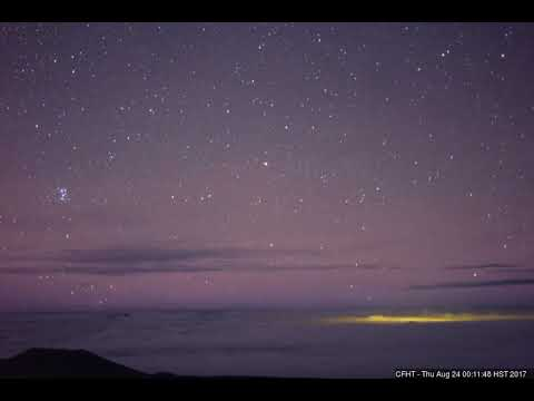 Strange flying object near Hawaii rises with the Pleiades. Aug 24 2017