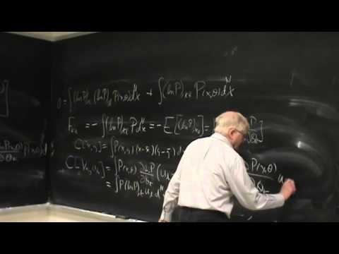 Lecture on the Fisher information matrix and Kolmogorov's test