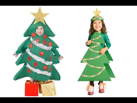 Disfraces De Arbol De Navidad Para Ninos Halloween Youtube - Disfraces-de-nios-de-navidad